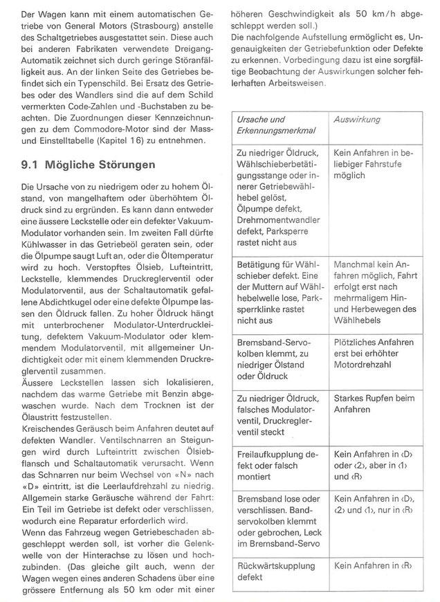 9.1 Automatisches Getriebe - Mögliche Störungen - Wissenswertes über ...