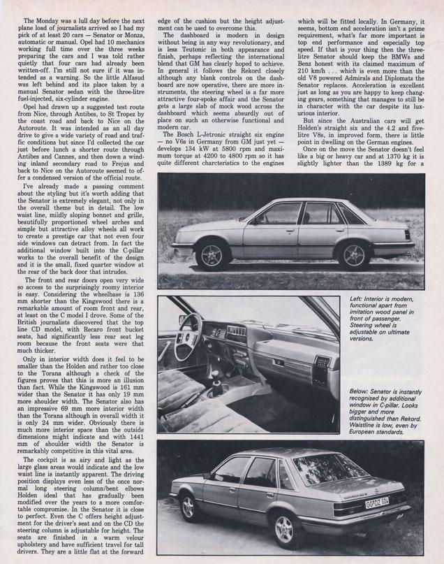 Opel\'s Senator... Benz Beater? - Wissenswertes über den Opel Commodore C