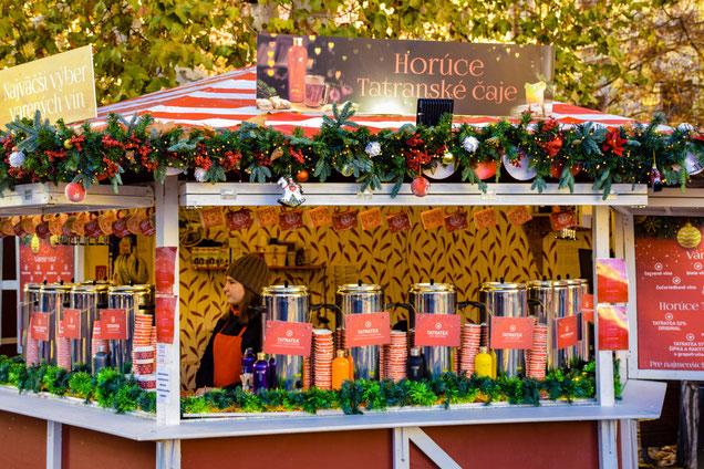 Bratislava Christmas Market - Food  Hot Tatra Tea