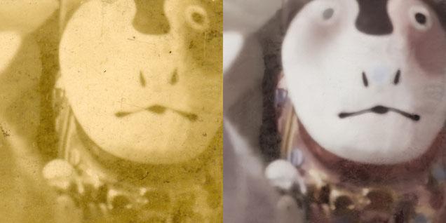 古い写真の修復例7 詳細例2