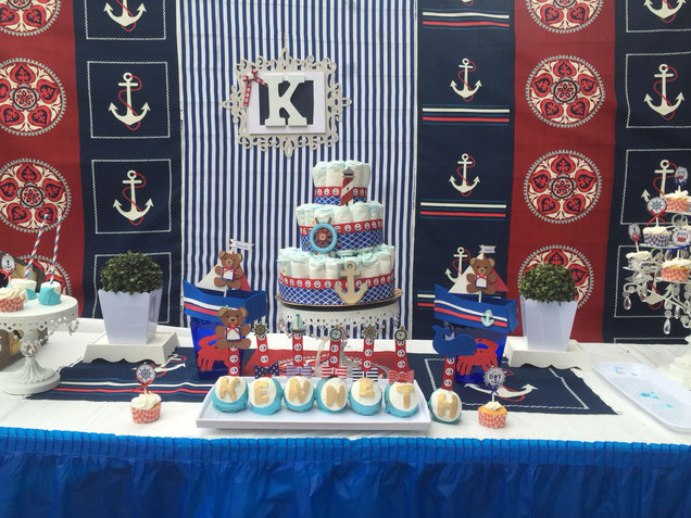 decoracion baby shower marinero