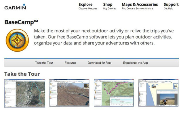 Garmin BaseCamp Software