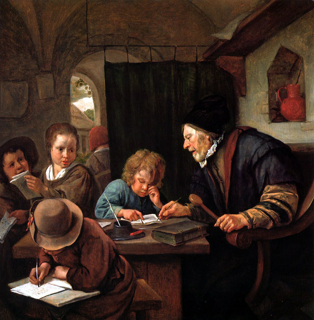 "Jan Steen, ""School Teacher"" (1668)"