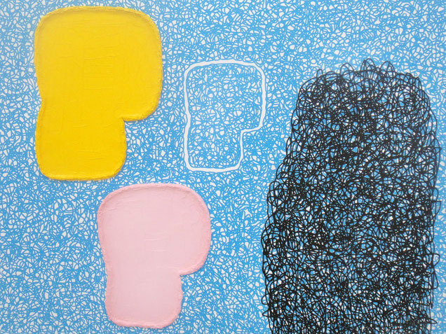 Jonathan Lasker, The commer of dream, 2011, exposé au musée d'Art Moderne et contemporain de Saint Étienne du 12 mars au 17 mai 2015