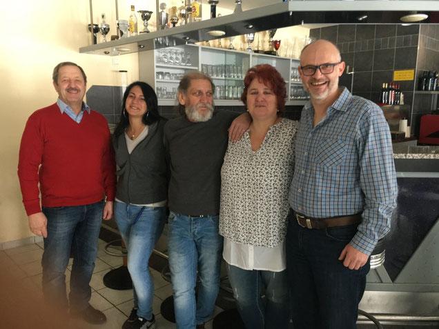 v.l.n.r.: Peter, Marcella, Salvatore, Gitti und Lars