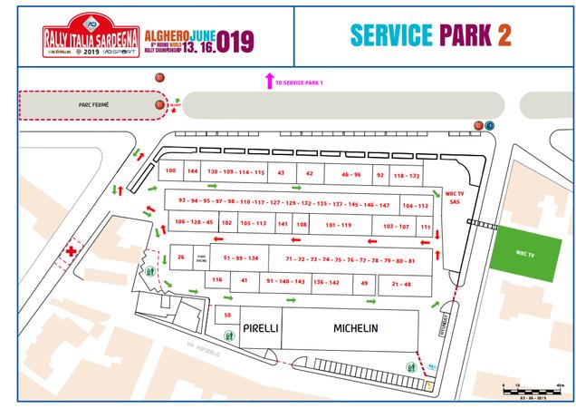 Parco assistenza Rally Alghero 2019 Piazzale della Pace