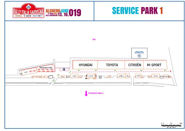 Parco assistenza Rally Alghero 2019 Porto di Alghero