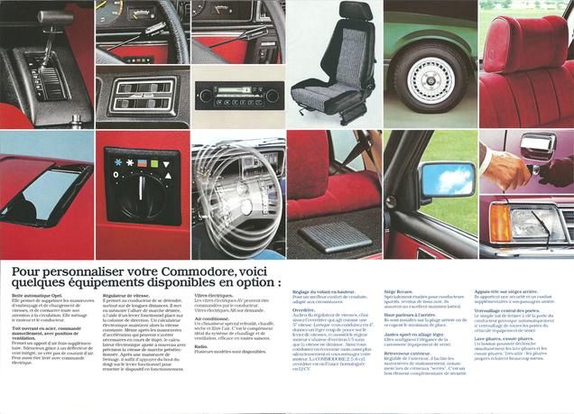 Opel Commodore C Prospekt August 1980 Französisch