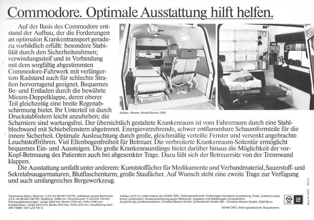 Opel Commodore C Krankenwagen