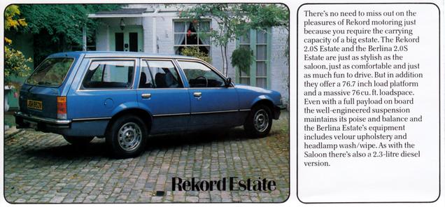 The Opel Range Leaflet 03/1981 - Wissenswertes über den Opel Commodore C