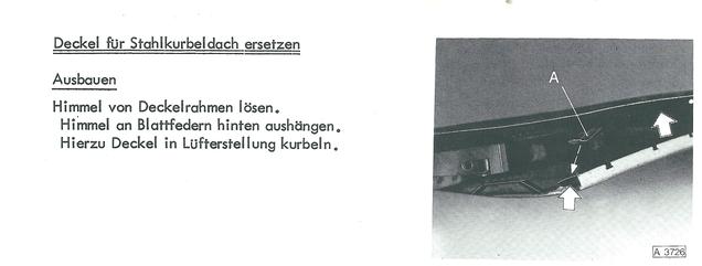 Opel Senator Monza Rekord Commodore Schiebedach einstellen