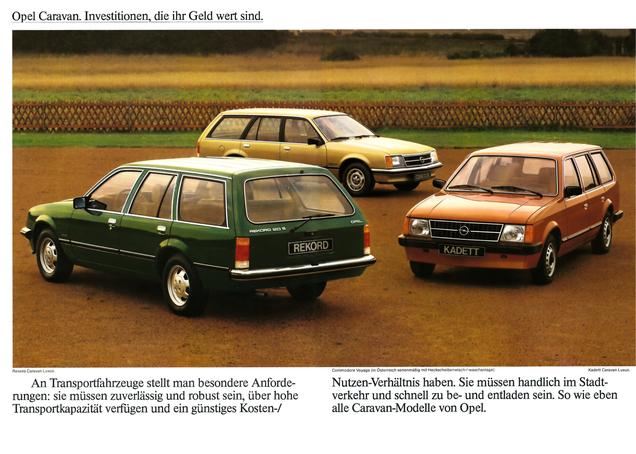 Opel Kadett Caravan Rekord Caravan Commodore Voyage