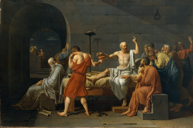 """Jacques-Louis David, """"La morte di Socrate"""" (1787)"""