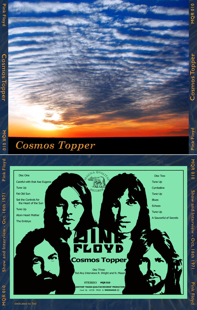Pink Floyd & Ted Alvy - Cosmos Topper - MQR 010