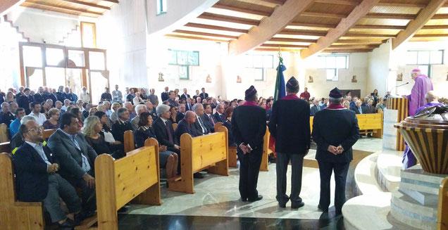 S. Maria Goretti, Frosinone. La messa per Marco Santarelli