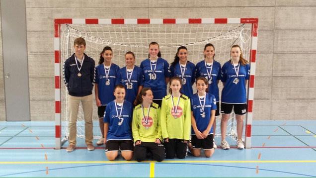 Das U15 Juniorinnen Meisterteam der Saison 2014/15