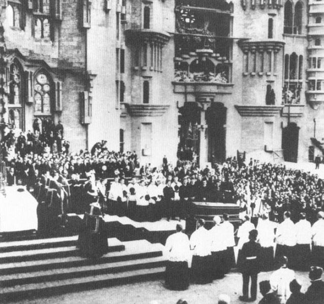ガウディの葬式。1926年6月12日。
