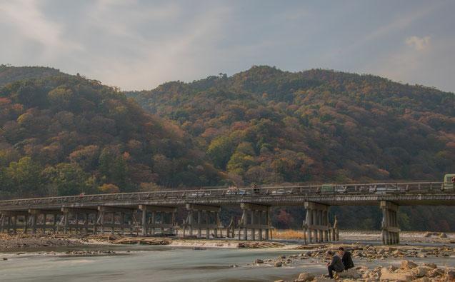 Le colline di Arashiyama e il ponte Togetsukyo
