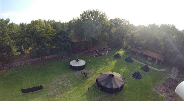 Luftbild unseres Herbstlagers