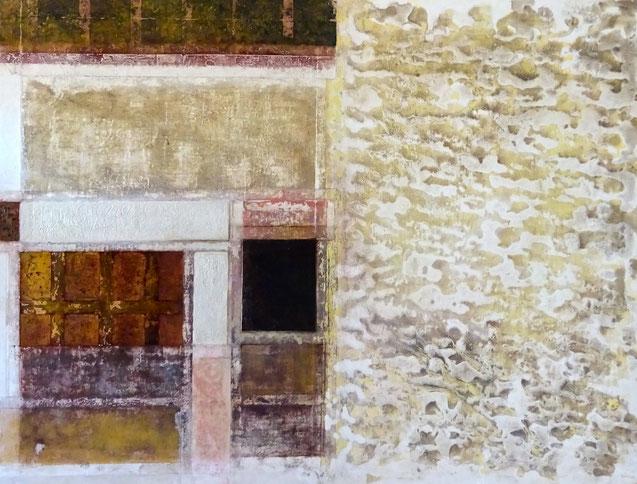 """"""" Matices, Texturas y Colores del Siglo de Oro """" - Acrílico sobre lienzo - 89 x 116 x 2cm"""