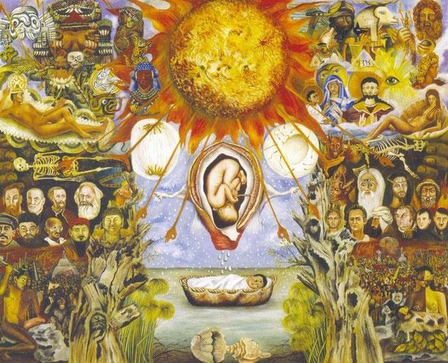 Frida Kahlo moïse ou le nucleus tableau