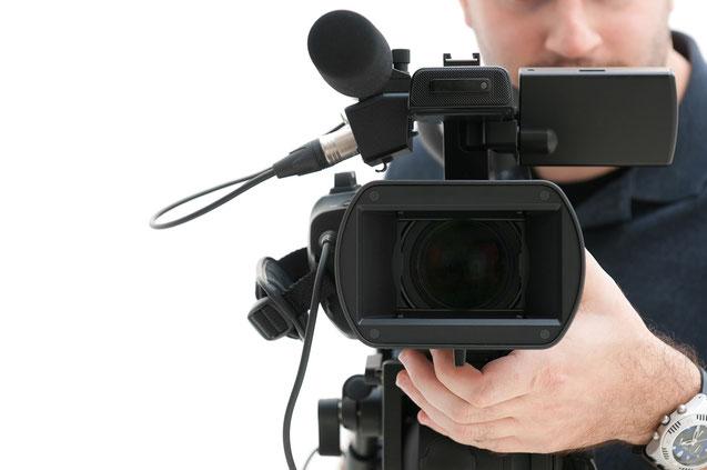 camarógrafo y cámara