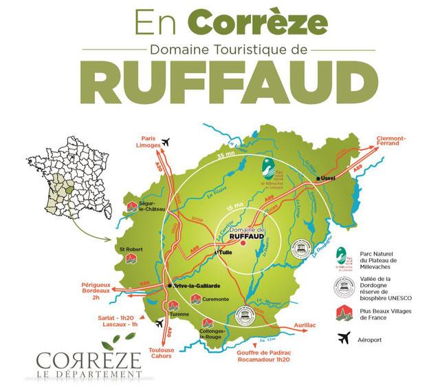 plan du domaine touristique de Ruffaud