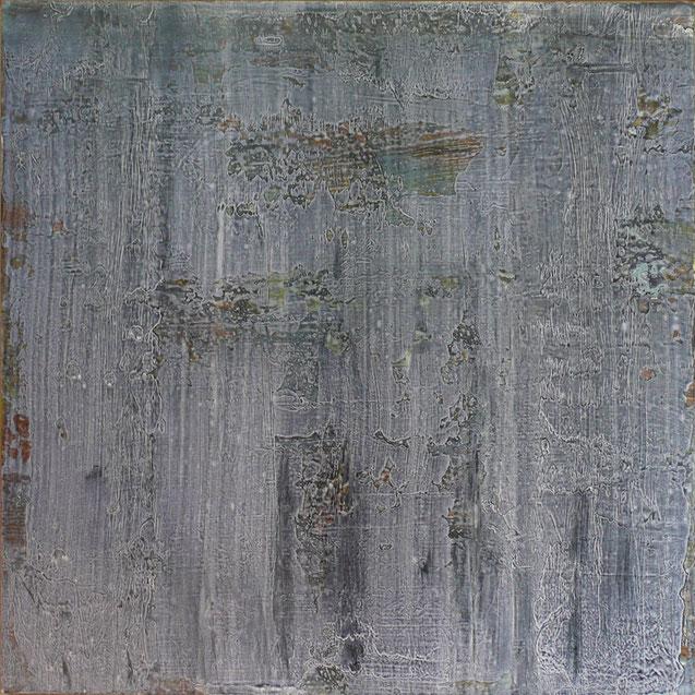 T, 2014, Acryl/HF, 100 x 100 cm