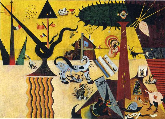 Самые известные картины Жоана Миро - Вспаханное поле