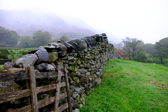 Lake District, Trockenmauer
