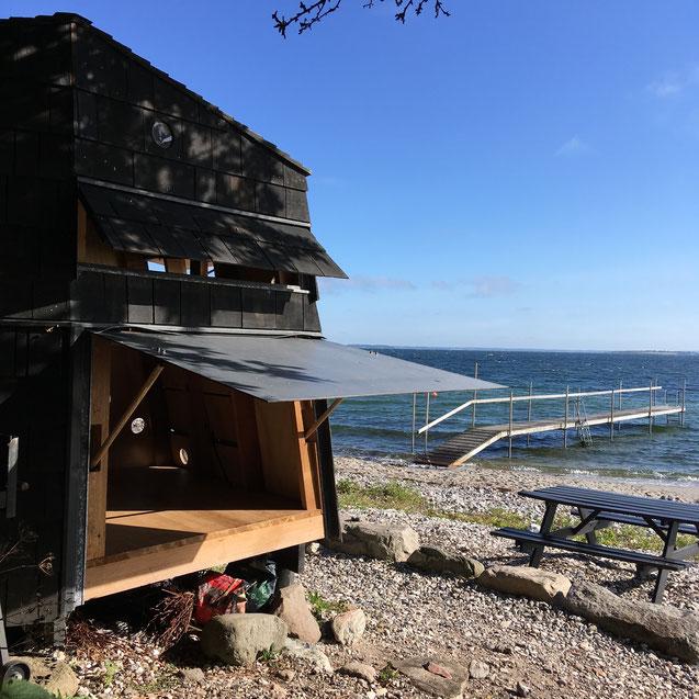 Shelter am Meer auf Ærø