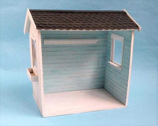 Mini-Gartenhaus basteln