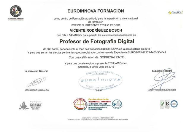 Profesor de fotografía en Tenerife