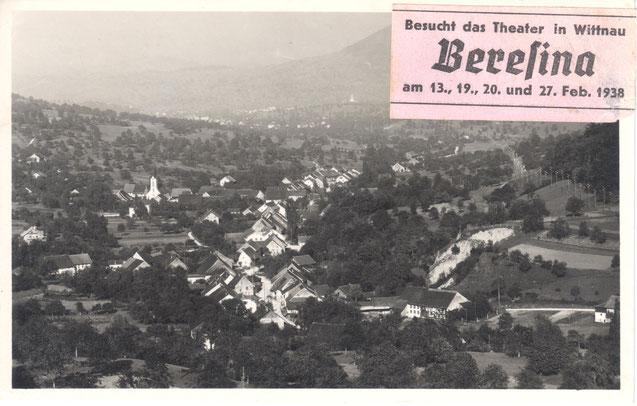 unbekannter Verlag, Nr. 2061; abgestempelt 10. II. 1938, Werbung für das Theater des Männerchors