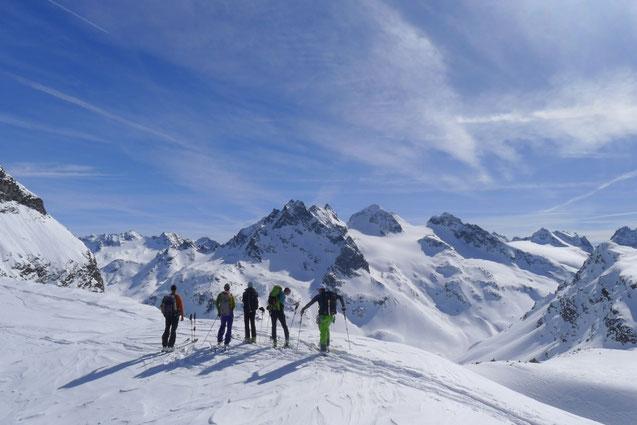 Skidurchquerung Silvretta, Skitour, Skihochtour, Piz Buin, Silfrettahorn,