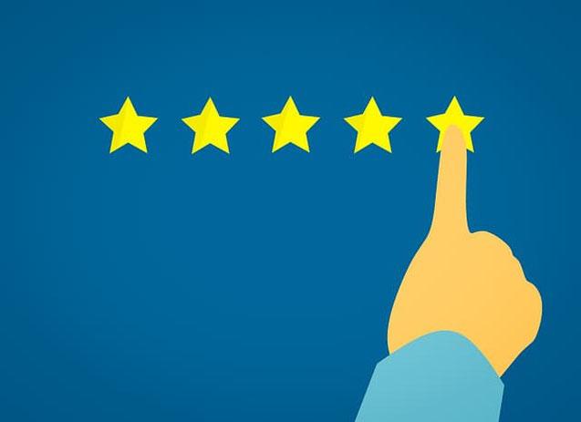 Qualität - fünf Sterne