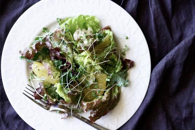 野菜 ヘルシー サラダ キウイ 味噌汁 オンライン料理教室
