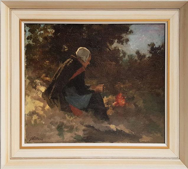 te_koop_aangeboden_een_genre_schilderij_van_de_nederlandse_kunstschilder_johannes_weiland_1856-1909