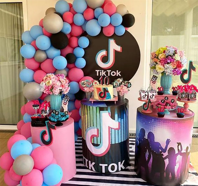 cumpleaños infantil tematica tik tok