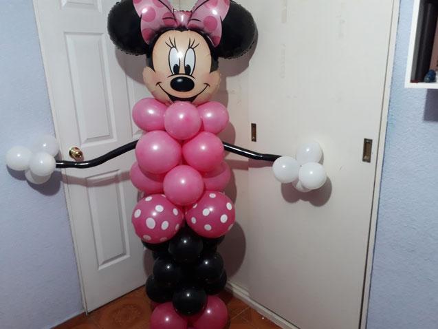 torre de globos de minnie mouse