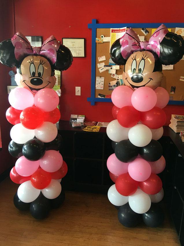arreglos de globos de minnie mouse