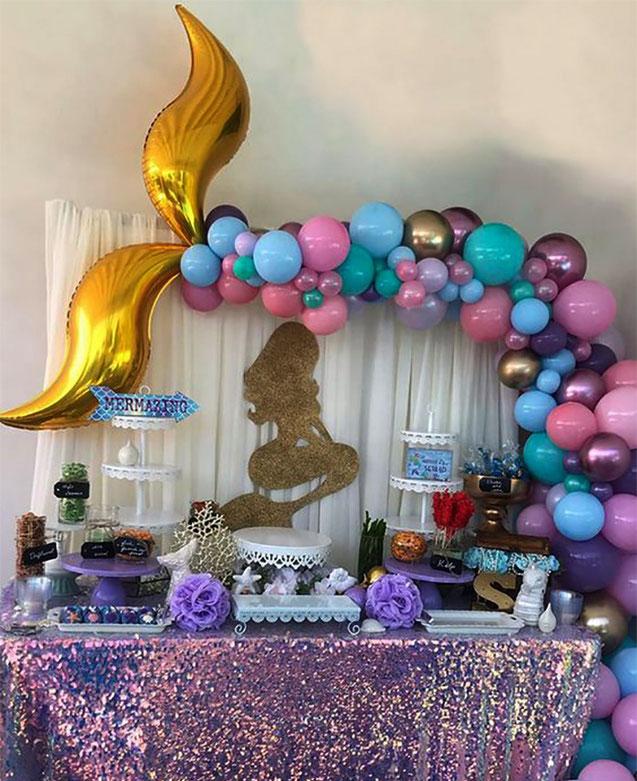 cumpleaños tematico de sirena