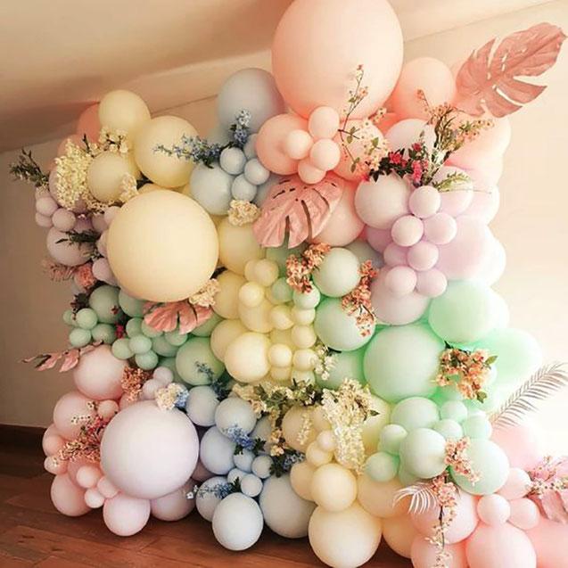 pared de globos estilo vintage