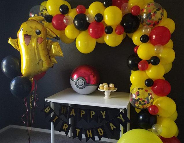 cumpleaños tematica pikachu