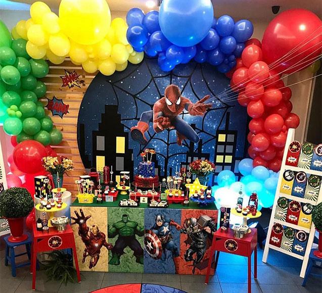cumpleaños tematico de super heroes