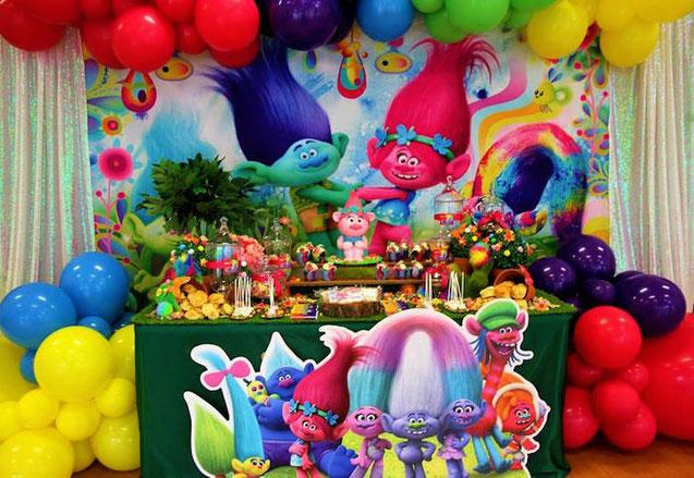 cumpleaños tematico de trolls