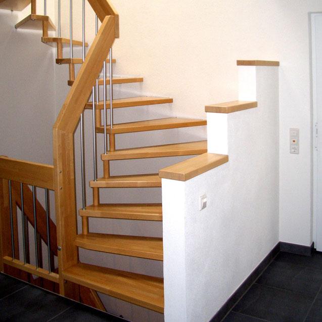 Modernisierung Holztreppe mit Bucher Treppen Modell Viva!