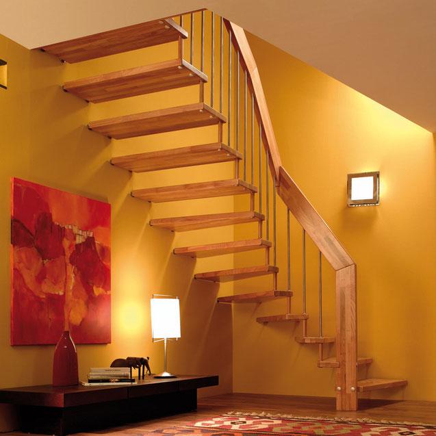 Holztreppe modernisiert mit Bucher Treppen Modell Viva!