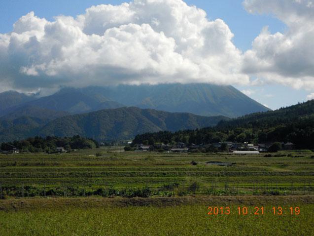 仁王堂公園から見た大山遠景、