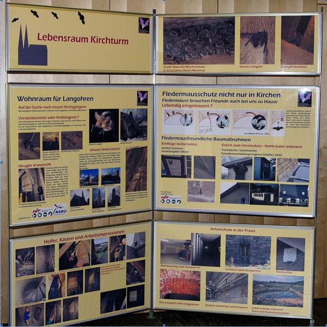 Schautafeln Arbeitskreis Fledermausschutz NABU Düren